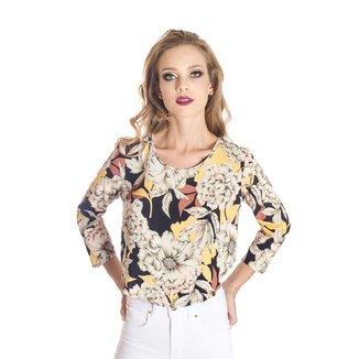 Blusa Floral Cropped Colcci Feminino