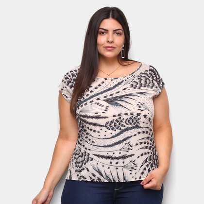 Blusa Habana Plus Size Estampada Feminina