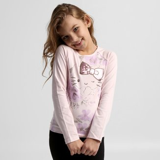 Blusa Hello Kitty Laço Infantil