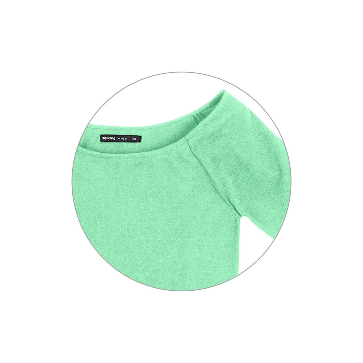 Blusa Hering Básica Gola Canoa Feminina - Verde