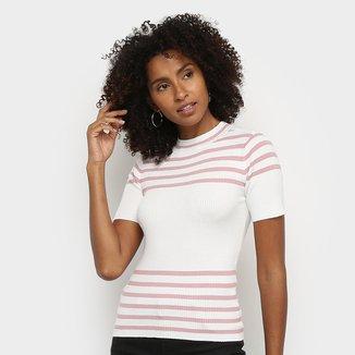 Blusa Hering Tricô Listrada Feminina