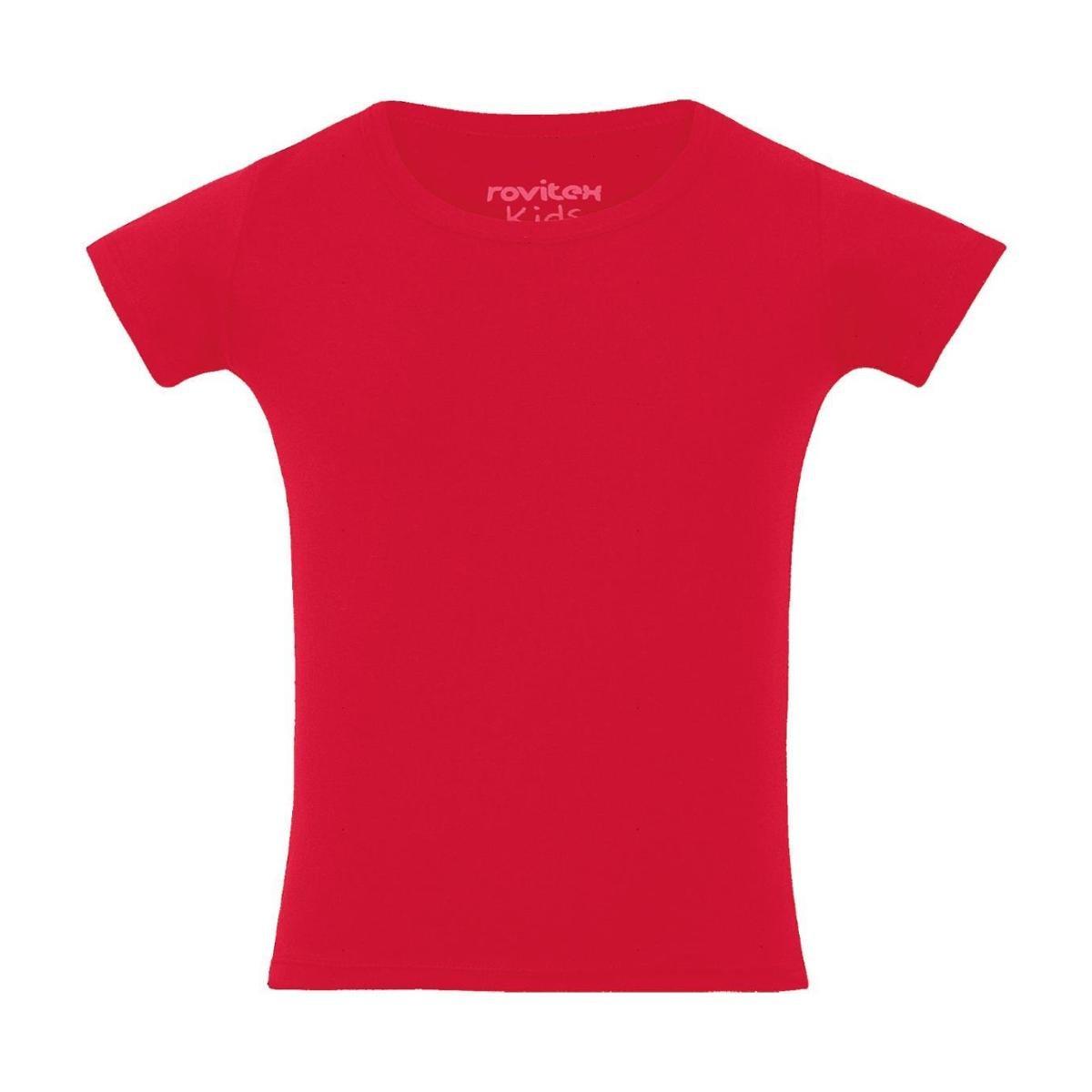 48e306ccf Blusa Infantil Cotton Premium Rovitex Kids Feminina - Vermelho - Compre  Agora