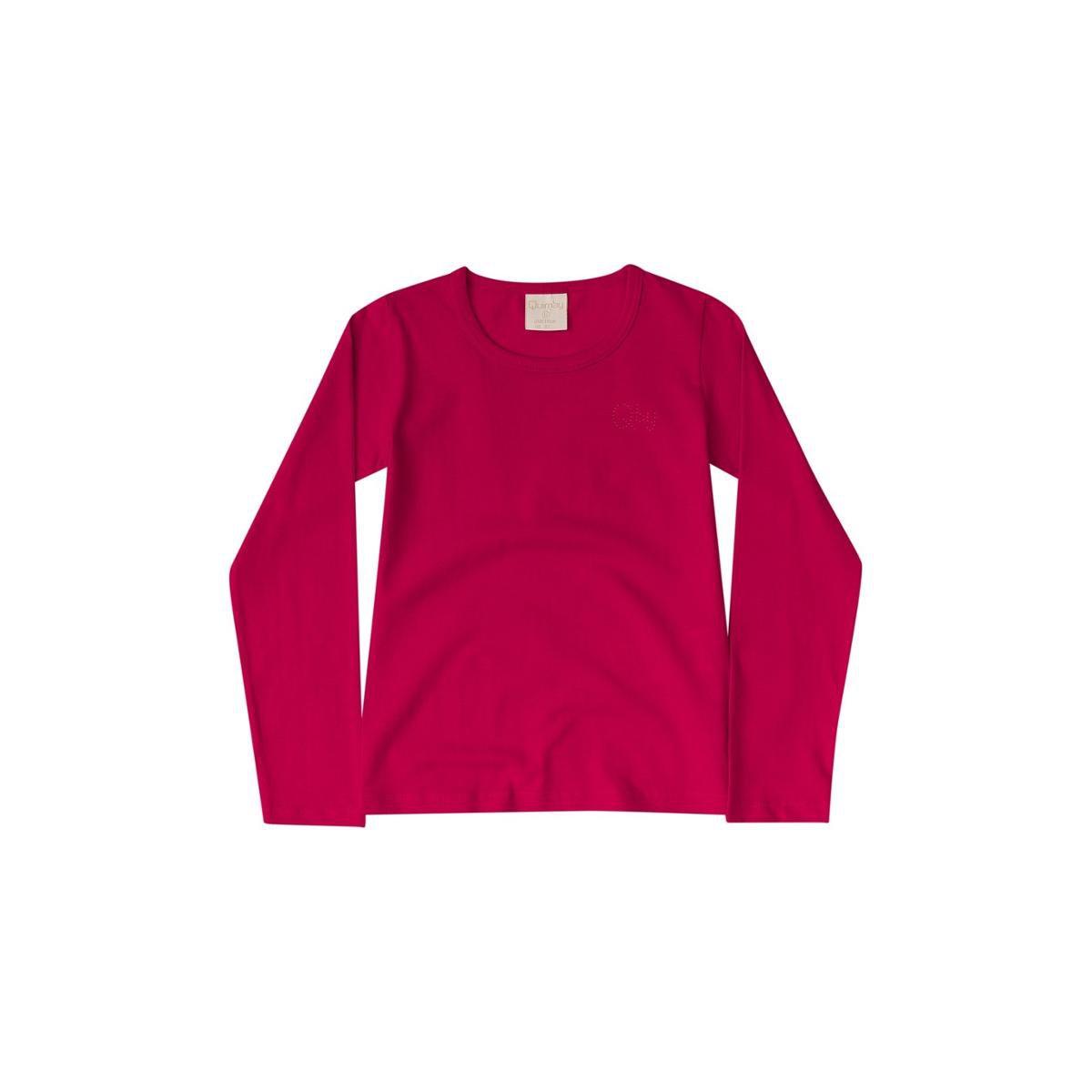 Blusa Infantil Cotton Quimby Feminina - Vermelho - Compre Agora ... 8a0bdfbe39c