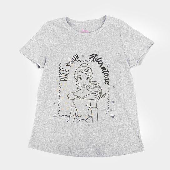 Blusa Infantil Disney Adventure Bella Feminina - Mescla