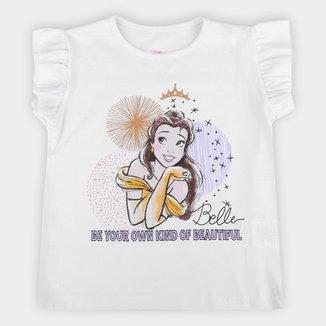 Blusa Infantil Disney Bella Beautiful Feminina