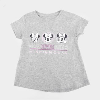Blusa Infantil Disney Cool Never Stops Minnie Feminina