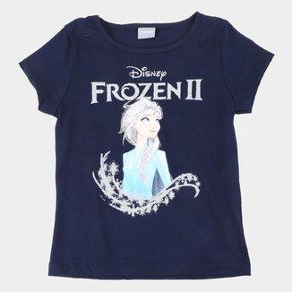 Blusa Infantil Disney Frozen Glitter Feminina