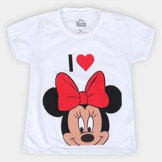 Blusa Infantil Disney I Love Minnie Feminina