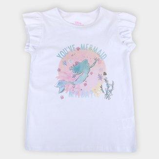 Blusa Infantil Disney Mermaid Feminina
