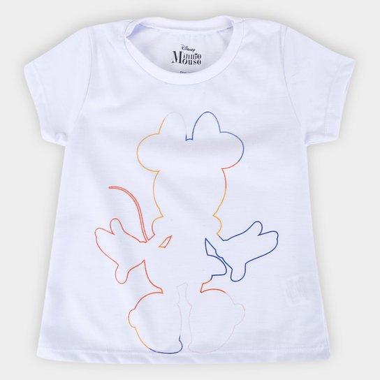 Blusa Infantil Disney Minnie Colors Feminina - Branco