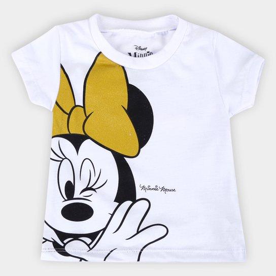 Blusa Infantil Disney Minnie Mouse Feminina - Branco