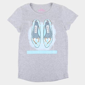 Blusa Infantil Disney Sapatinho Cinderela Feminina
