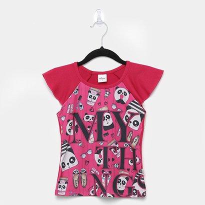 Blusa Infantil Elian Crepe Panda Feminina