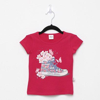 Blusa Infantil Elian Strass Cherry Blossom Feminina