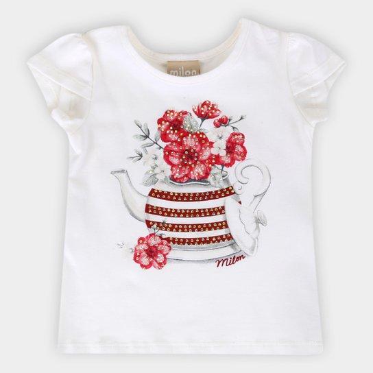 Blusa Infantil Milon Estampada Feminina - Off White