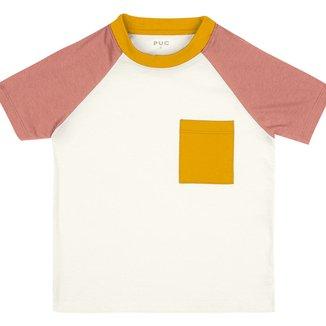 Blusa Infantil PUC Raglan C/ Bolso Feminina