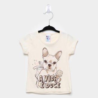 Blusa Infantil Pulla Bulla Cotton Dog Feminina