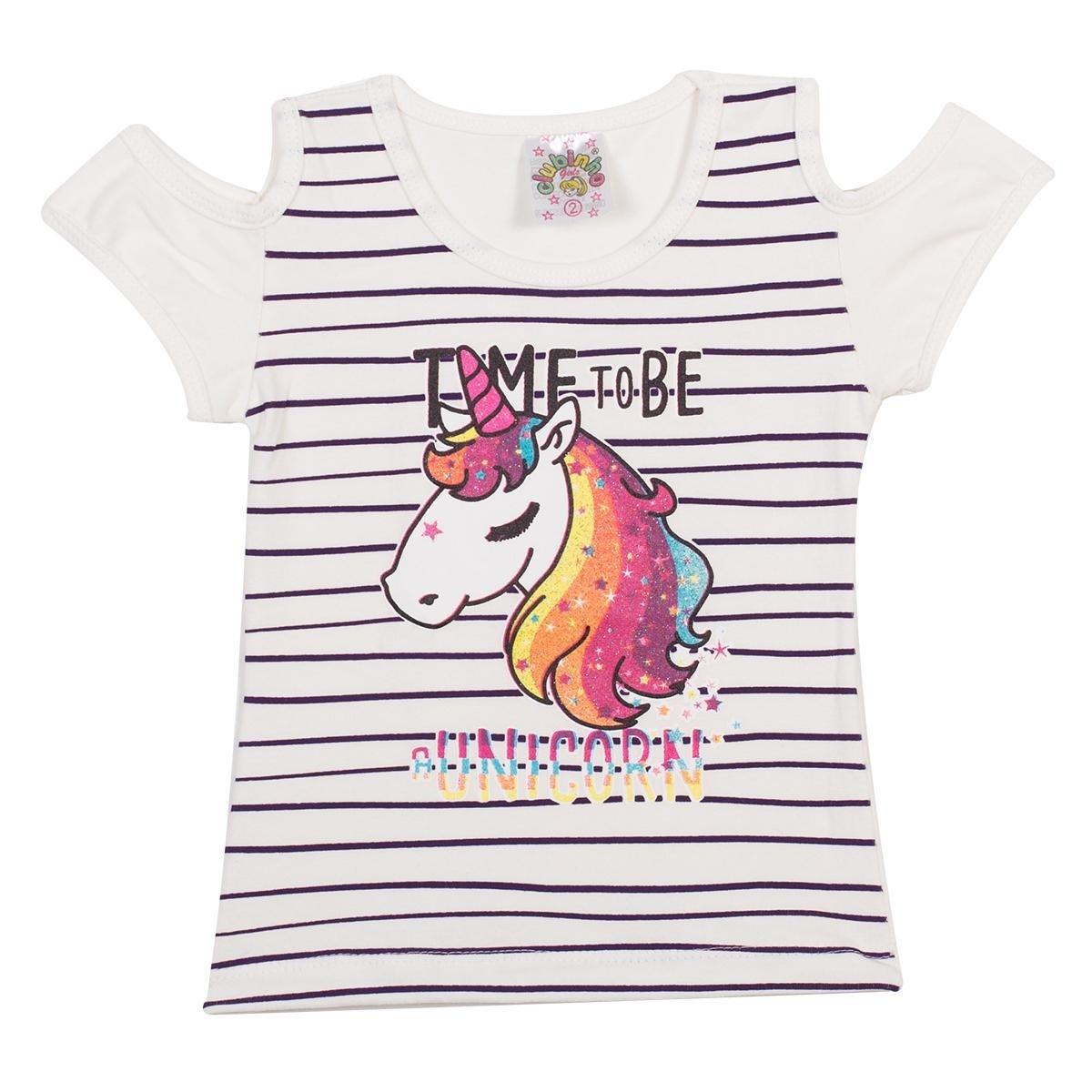 Blusa Infantil Unicórnio em Cotton Feminina - Compre Agora  614a5c849305f