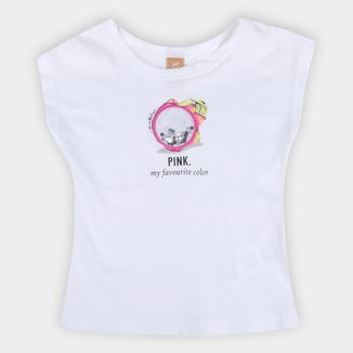 Blusa Infantil Up Baby Pitaya Interativa Feminina