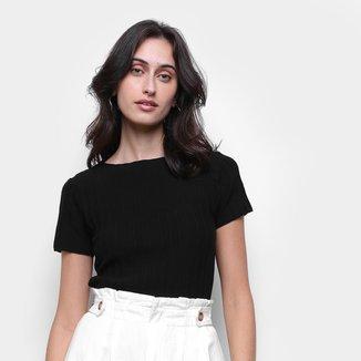 Blusa Lança Perfume Básica Slim Feminina
