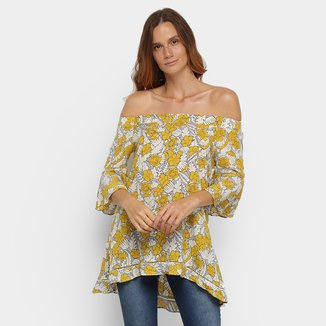 Blusa Lily Fashion Ampla Ombro a Ombro Feminina