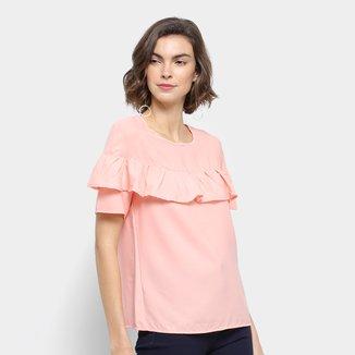 Blusa Lily Fashion Babados Feminina
