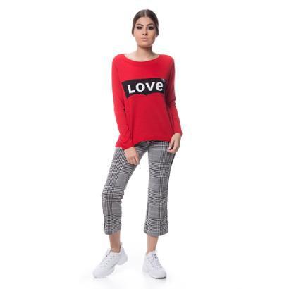 Blusa Logan Tricot Jacar Love-Feminino