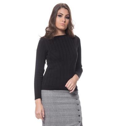 Blusa Logan Tricot Textura Modal Feminina-Feminino