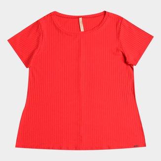 Blusa Lunender Plus Size Canelada Tracy Feminina