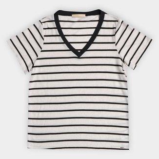 Blusa Lunender Plus Size Listrada Lino Glam Feminina