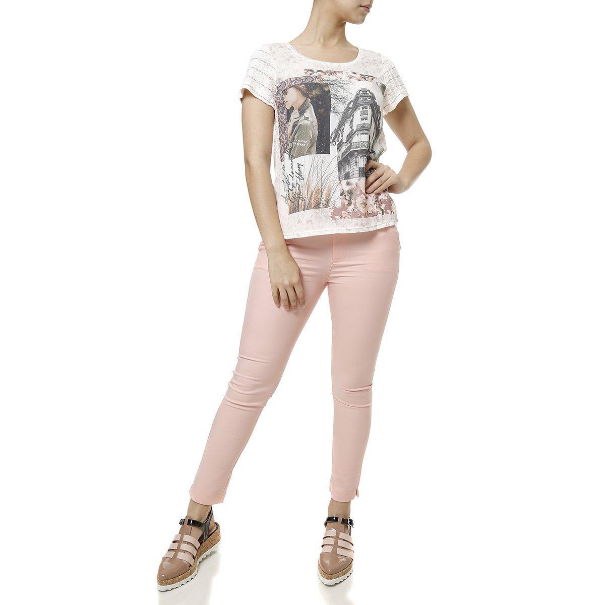 41447c753a Blusa Manga Curta Feminina Autentique - Rosa - Compre Agora