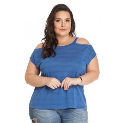 Imagem de Blusa Meia Malha com Ombros Vazados Miss Masy Plus Size 94922bf346688