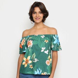Blusa Mercatto Ciganinha Floral Feminina