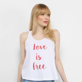 Blusa Mercatto Love Is Free Feminina
