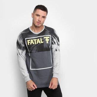 Blusa Moletom Fatal U Rag Logo Masculina