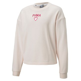 Blusa Moletom Infantil Puma Alpha Crew Sweat Feminina