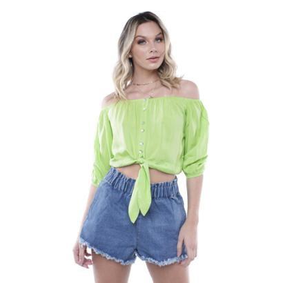 Blusa Ombro a Ombro Colors Pop Me Feminina