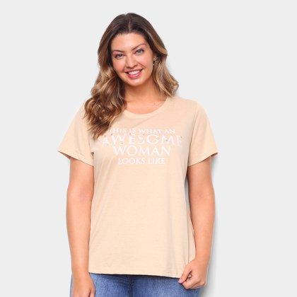 Blusa Plus Size Lecimar Bordada Feminina