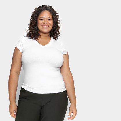 Blusa Plus Size Lecimar Lisa Feminina