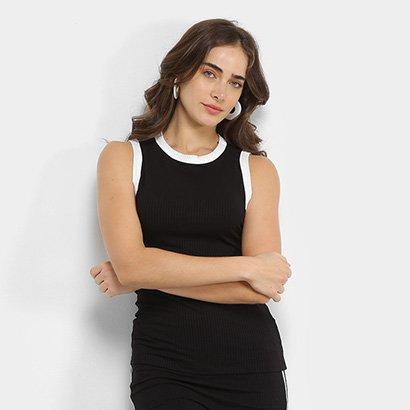 Blusa Regata Colcci Canelada Feminina