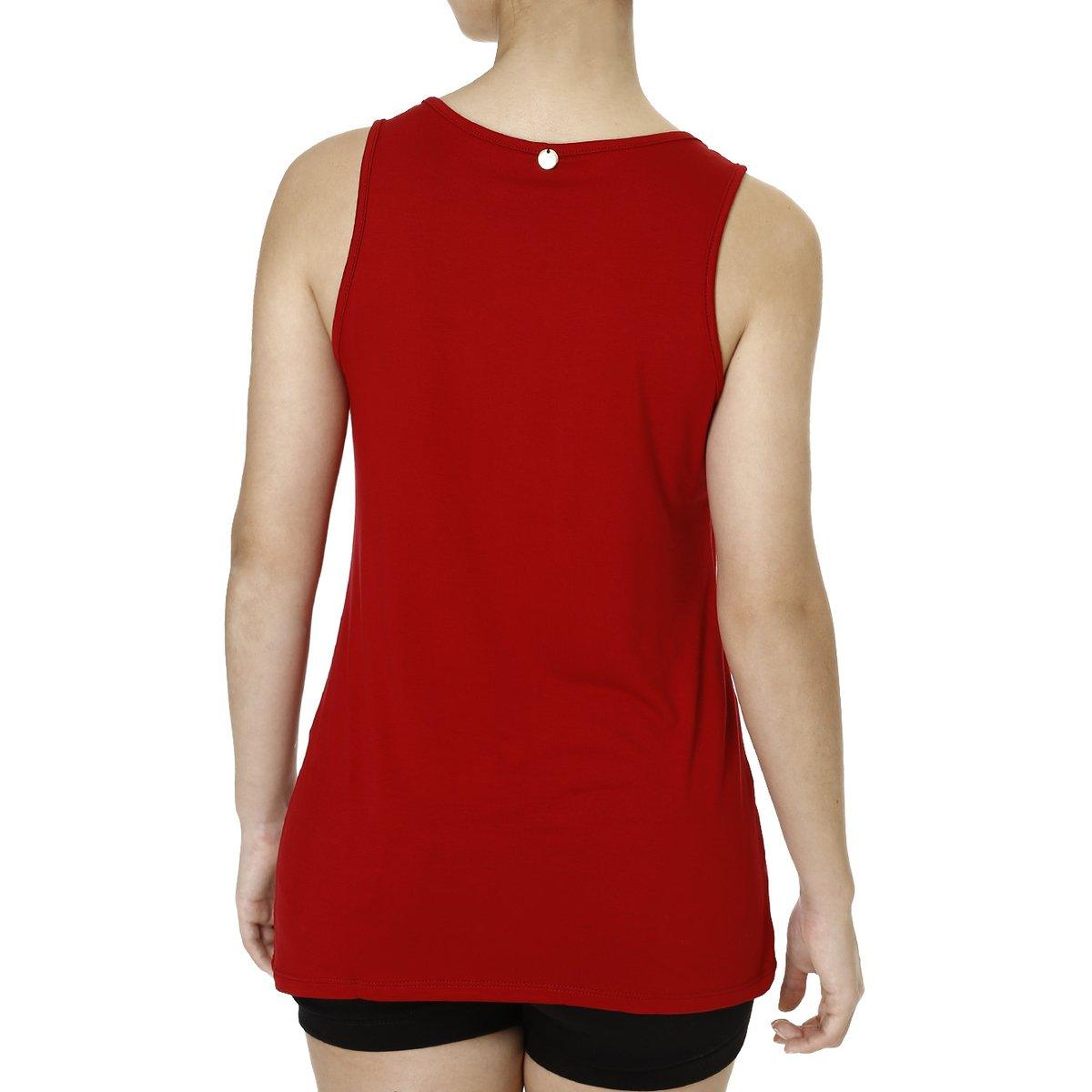 Blusa Regata Feminina Lnd Clean - Vermelho - Compre Agora  204ee52fdd0