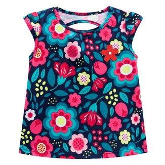 Blusa Regata Infantil  Kyly Floral Feminina