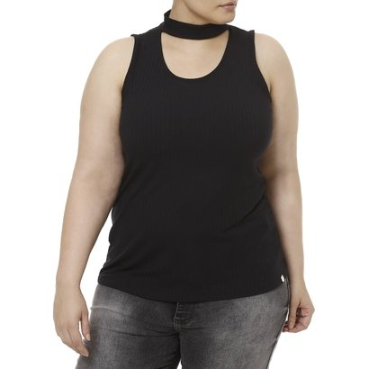 Blusa Regata Plus Size Feminina Lunender-Feminino