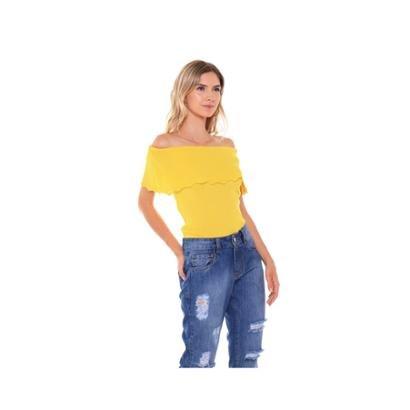 Blusa Studio 21 Fashion Ombro A Ombro Tricot