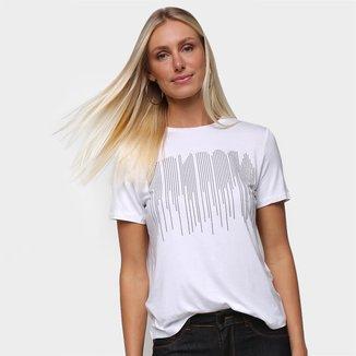 Blusa T-Shirt Detalhe Termocolante Feminina