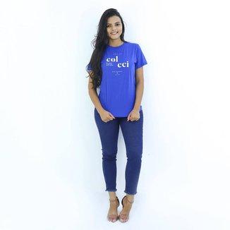 Blusa T-shirt Estampada Colcci Original Gola Redonda Casual