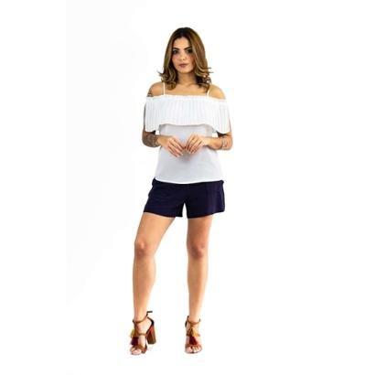 Blusa The Style Box Alcinha Babado Plissado-Feminino