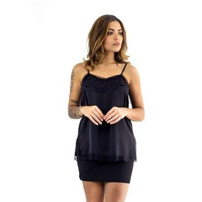 Blusa The Style Box De Alcinha Com Renda No Decote-Feminino