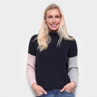Blusa Tricô Calvin Klein Lisa Tricolor Feminina