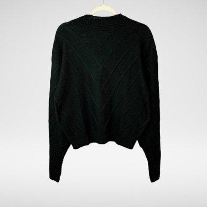 Blusa Tricot com detalhes na manga e gola Silvia - Glam Tricot